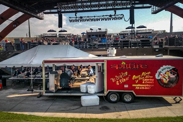 Spitfire Catering a Concert at Bluestem