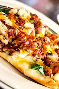 Chicken Bacon Alfredo Flatbread